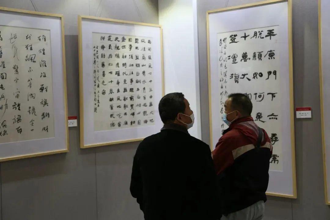 传承红色文化 携手共迎小康 苏皖两省六市书画展在蚌埠开幕(图6)